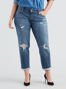 Levis Plus Boyfriend Jean In  Rip Em Up