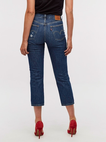 Levis Original 501 Crop In Market Indigo