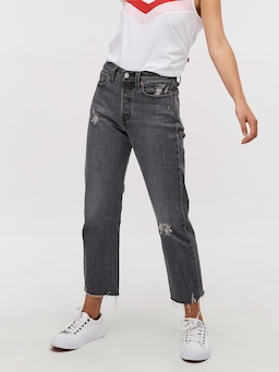 Levis Wedgie Straight Cabo Smoke Black