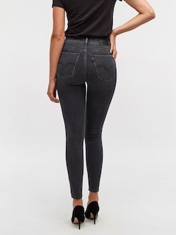 Levis Mile High Super Skinny In Smoke Show Black