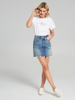 Levis Deconstructed Skirt In Hi Plains