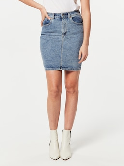 Levi Core Skirt Mid In Denim