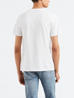 Levis Graphic Tee In White With Red Logo