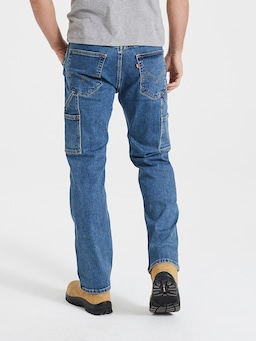 Levis 505 Straight Workwear In Stonewash Denim