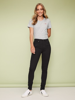 Levis 721 High Rise Skinny In Long Shot Black