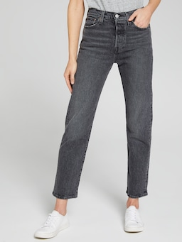 Levis Wedgie Straight Wash Black