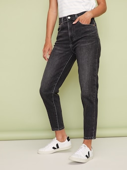 Levis High Rise Boyfriend Wash Black