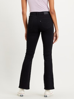 Levi 725 High Rise Bootcut In Black Denim