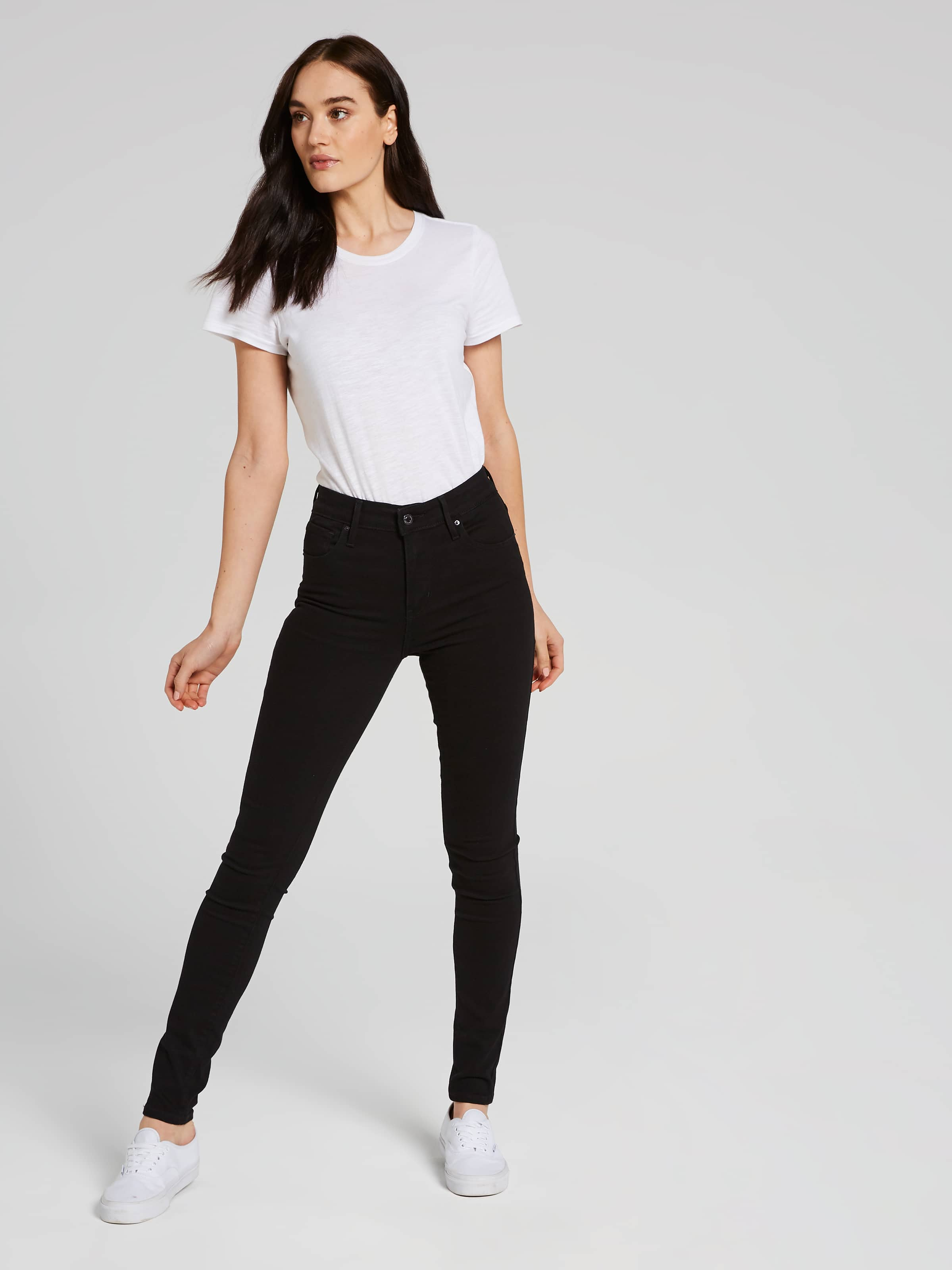 b1dc019443869 ... Image for Levi s 721 High Rise Skinny Jean In Black Sheep from Just  Jeans ...
