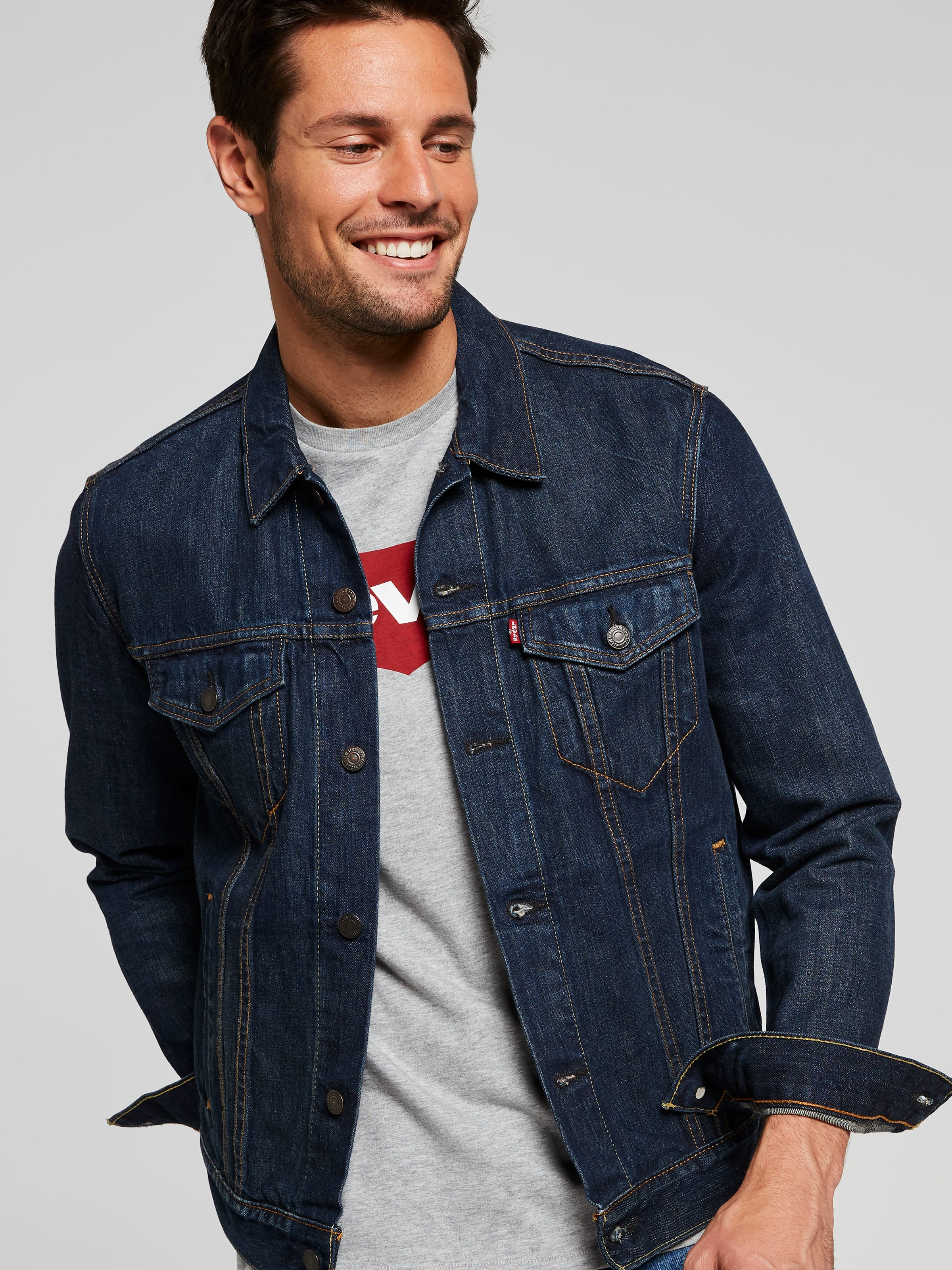 ace8625d345 Image for Levi s Trucker Jacket In Conifer from Just Jeans ...
