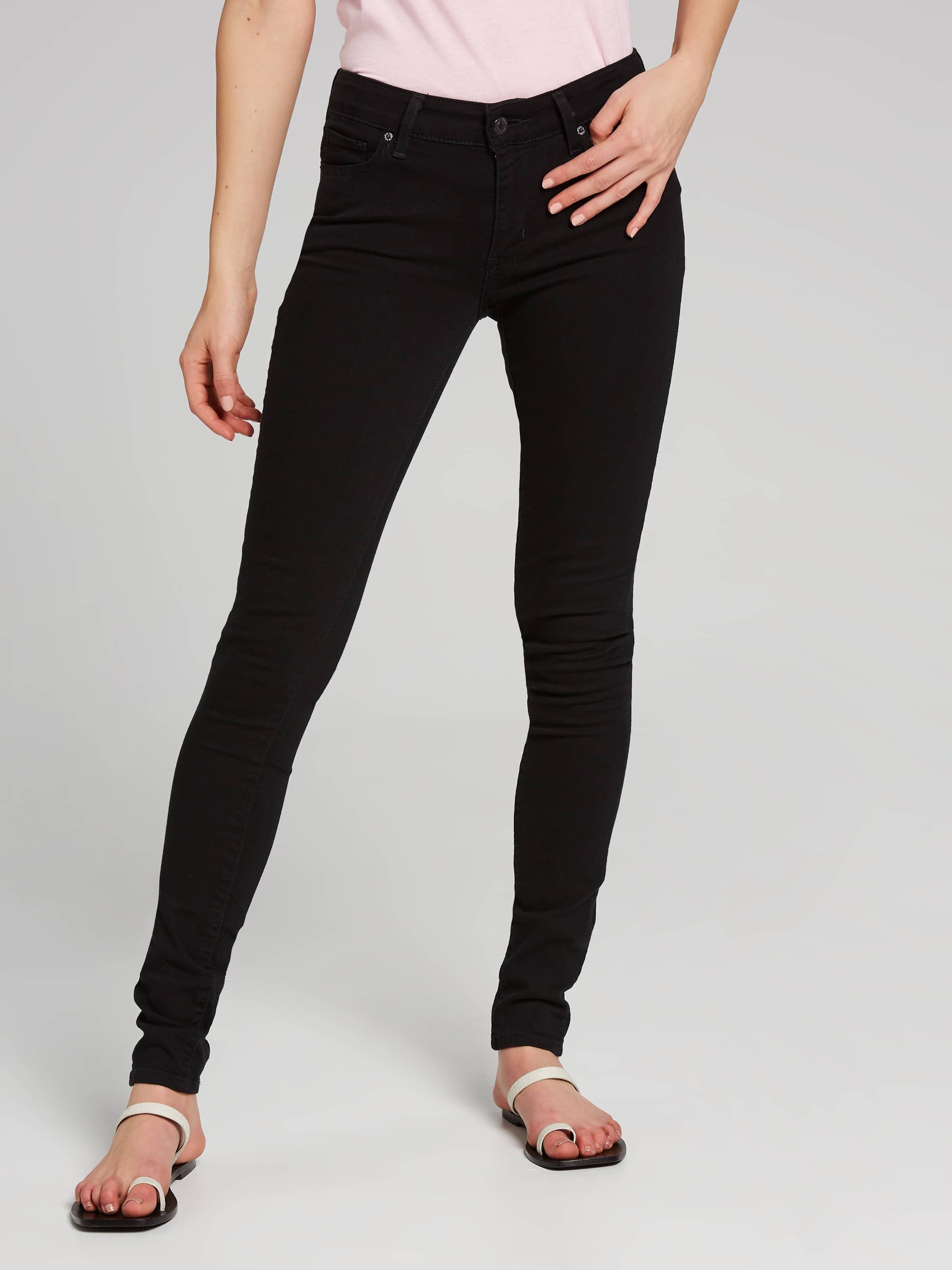 0bbea5fb53507 Image for Levi s 711 Skinny Jean In Black Sheep from Just Jeans ...
