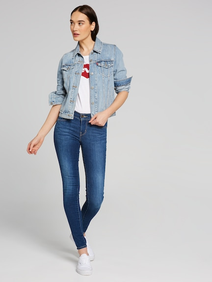 Levi's 710 Super Skinny Jean In Frolic Blue