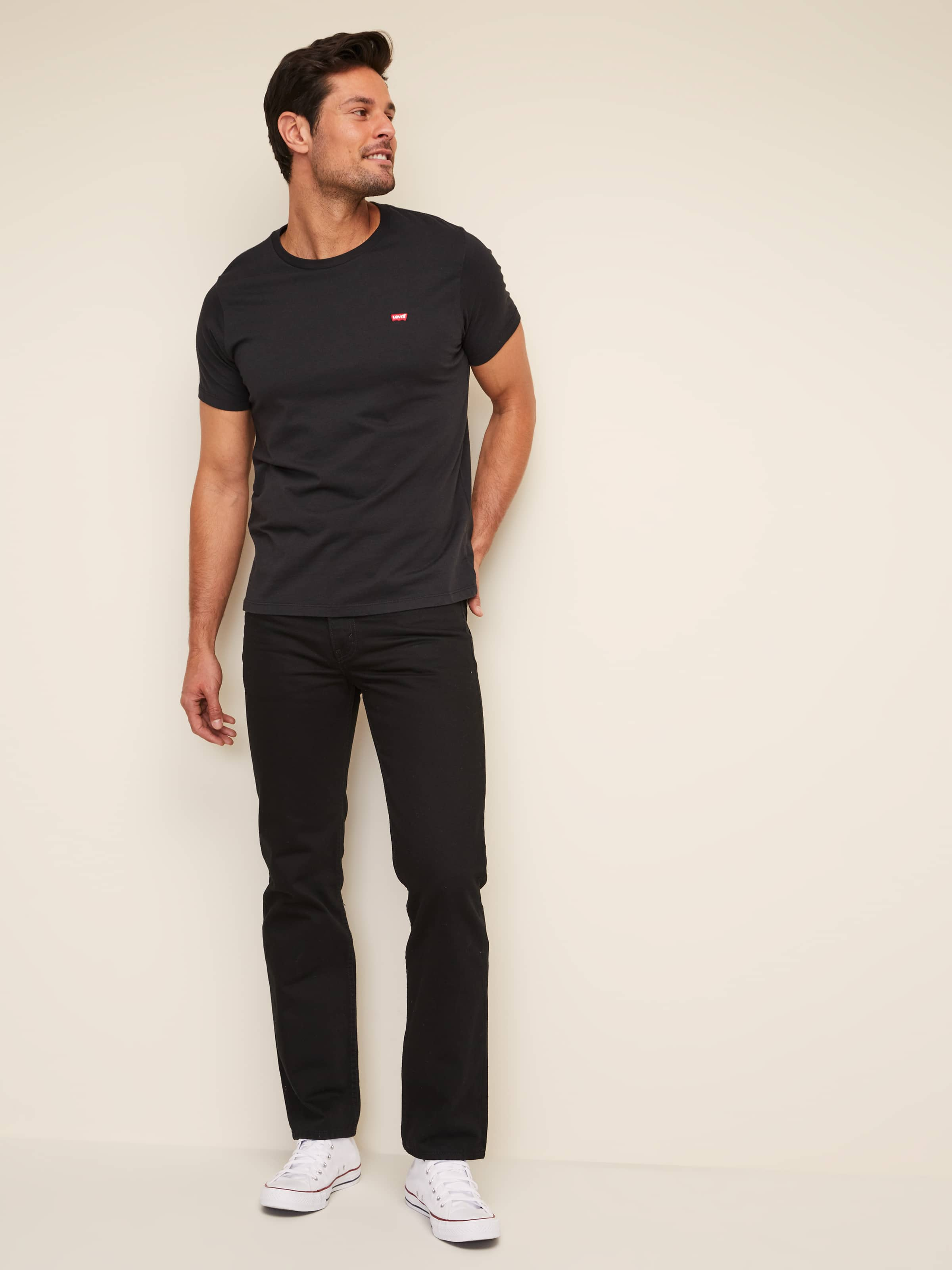 Just Jeans LEVI'S 516 STRAIGHT IN BLACK RINSE