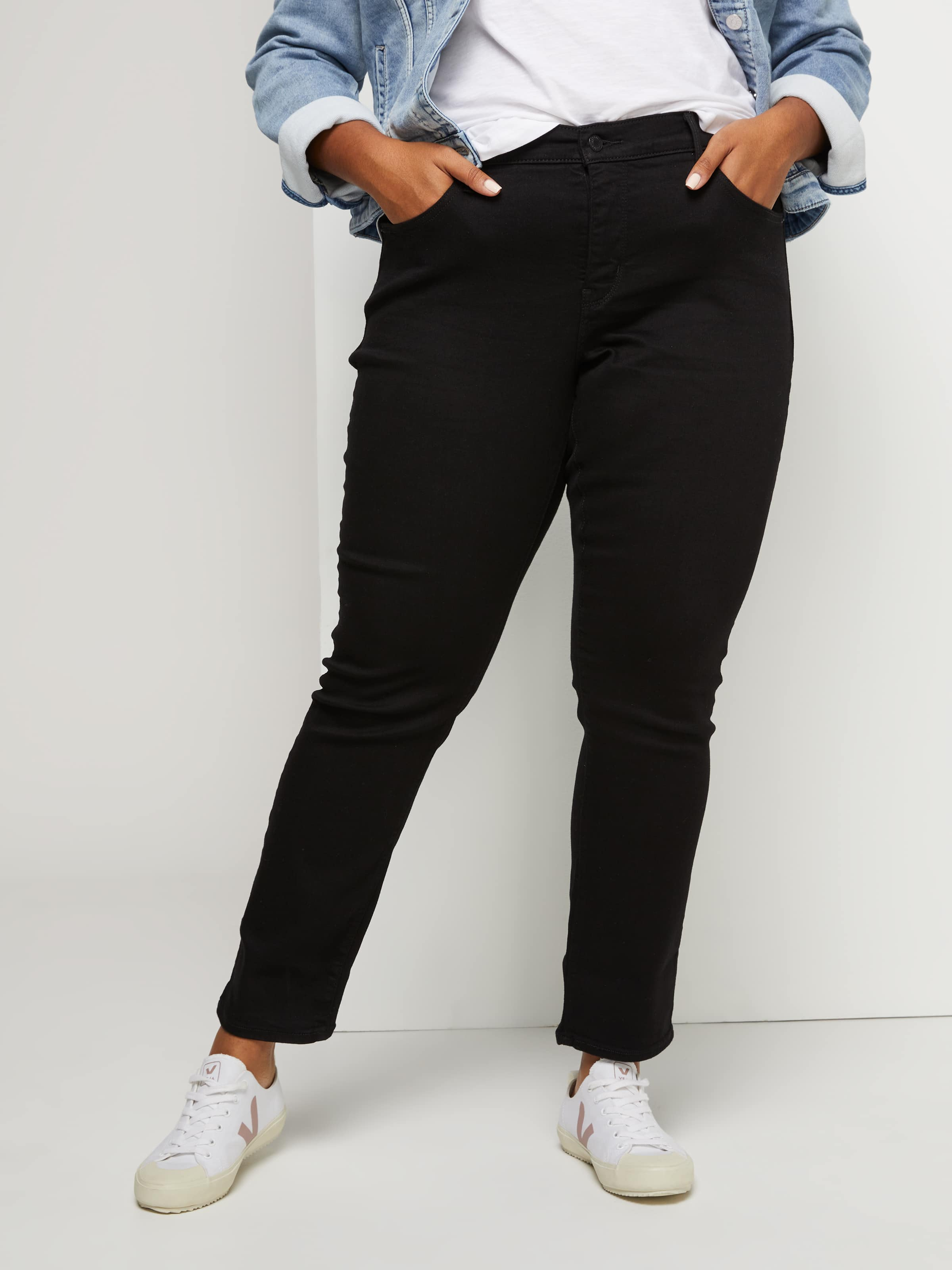 6d4e773caca Image for Levi s Plus 311 Shaping Skinny Jean In Soft Black from Just Jeans  ...
