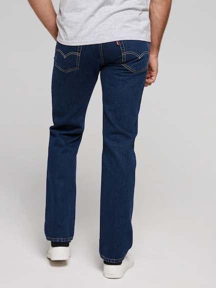 Levi's 514 Straight Jean In Blue Black