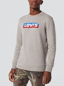 Levi Graphic Sweat In Grey Heather