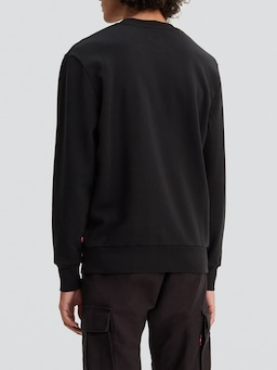 Levis Graphic Sweat In Mineral Black