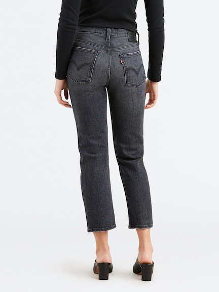 Levis Wedgie Straight In Coal Black