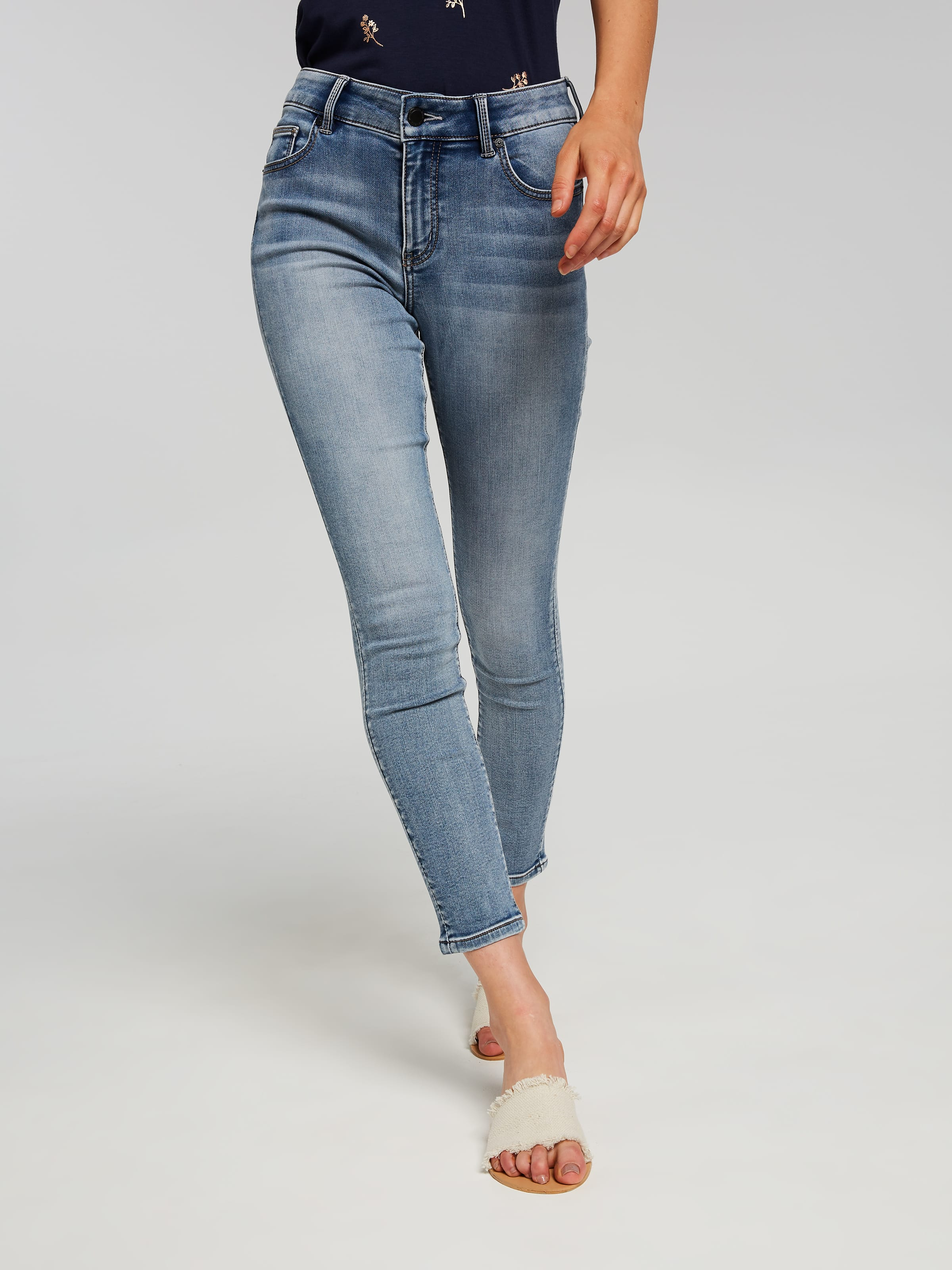 Mid Grey Skinny AVA Jeans Plus size 16 to 32   Yours Clothing