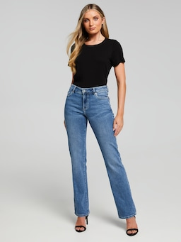 Comfort Stretch Mid Rise Bootcut Full Length