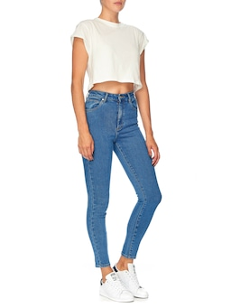 Abrand High Rise Skinny Ankle Billibl