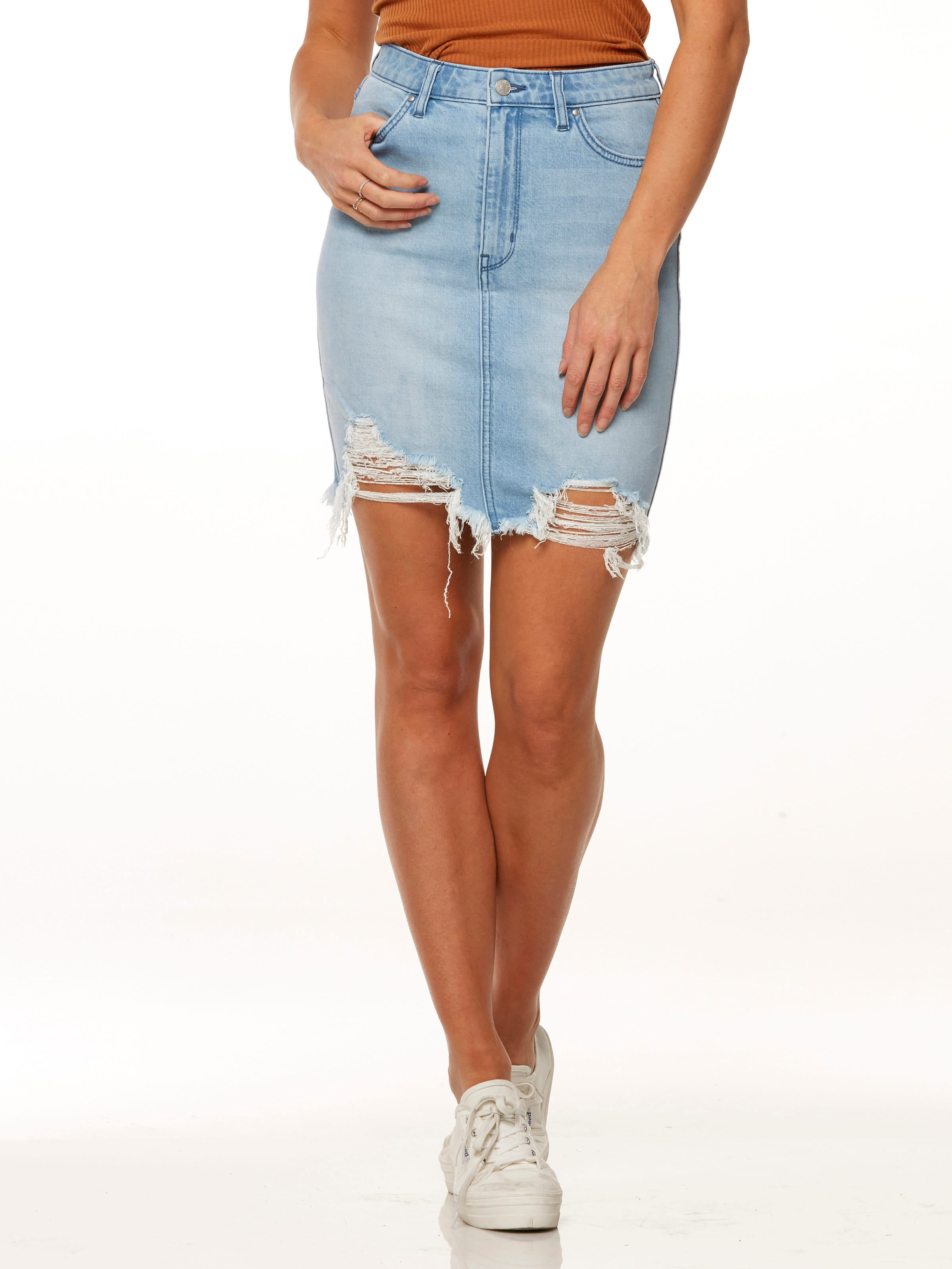 Just Jeans Riders By Lee Hi Rise Skirt Exposed Blue 9446652