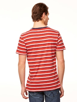 Riders By Lee Trademark Tee In Red Stripe