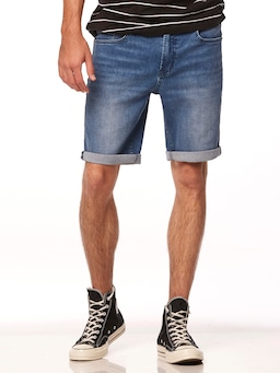 Riders By Lee Shorts In Blue Vain
