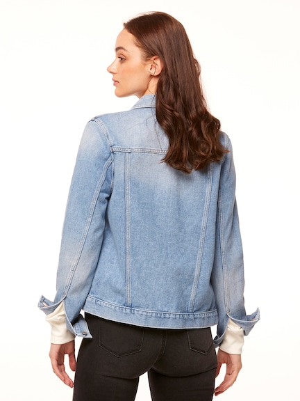 Riders By Lee Long Line Jacket In Blue Cove