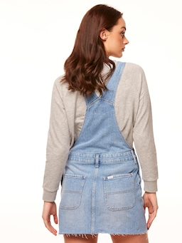 Riders By Lee Utility Dungaree Dress In Blue Cove