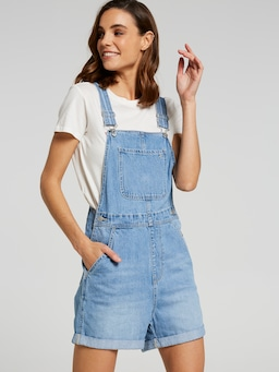 Riders By Lee Dungaree Short Santana Blue