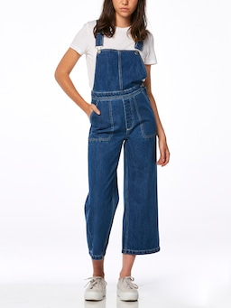 Riders By Lee Wide Dungaree In Austin Blue
