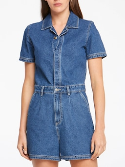 Riders By Lee Romper In Chambray Blue