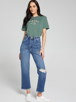 Riders By Lee Relaxed Tee Dusty Sage