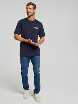 Riders By Lee Trademark Tee In Navy Worn