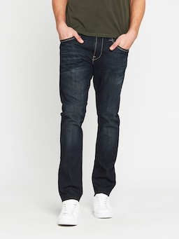 Mavi Marcus Slim Jean In Deep Brushed White Edge