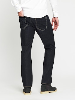 Mavi Hunter Straight Jean In Rinse White Edge