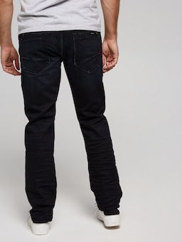 Mavi Marcus Slim Deep Ink Jean In White Edge