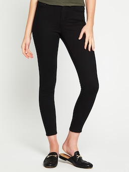 Mavi Alissa High Rise Skinny Ankle Jean Double Black Gold Reform