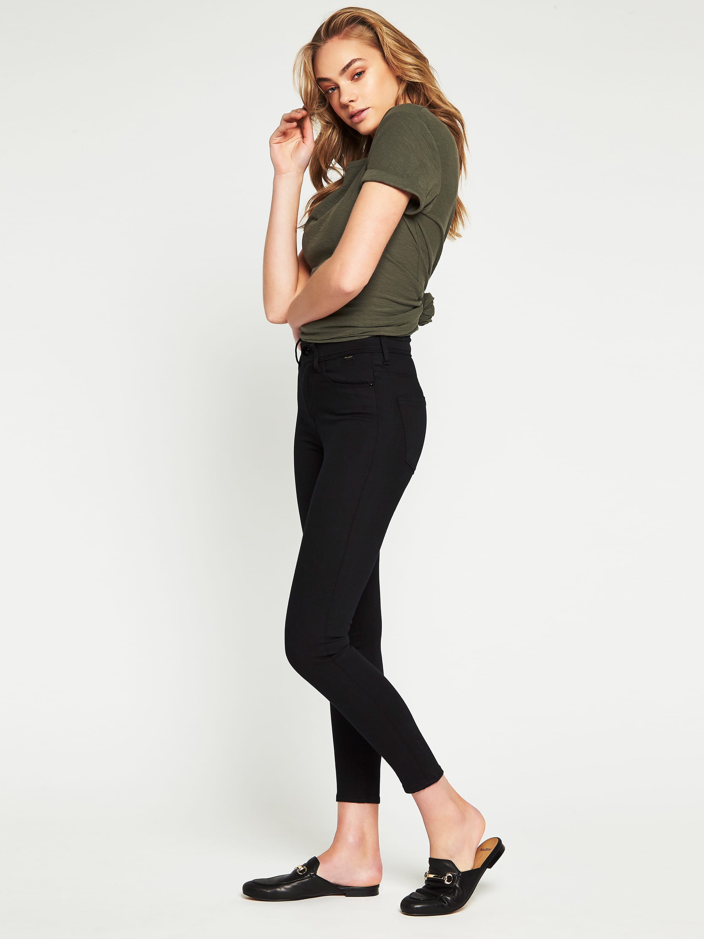... Image for Mavi Alissa High Rise Skinny Ankle Jean Double Black Gold  Reform from Just Jeans