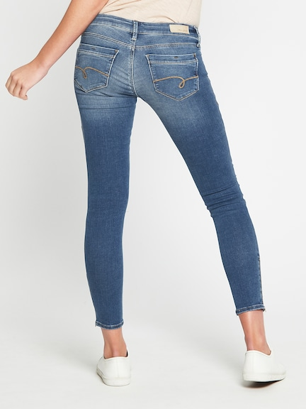 Mavi Jesy Skinny Ankle Biker Jean In Light Indigo Gold Reform