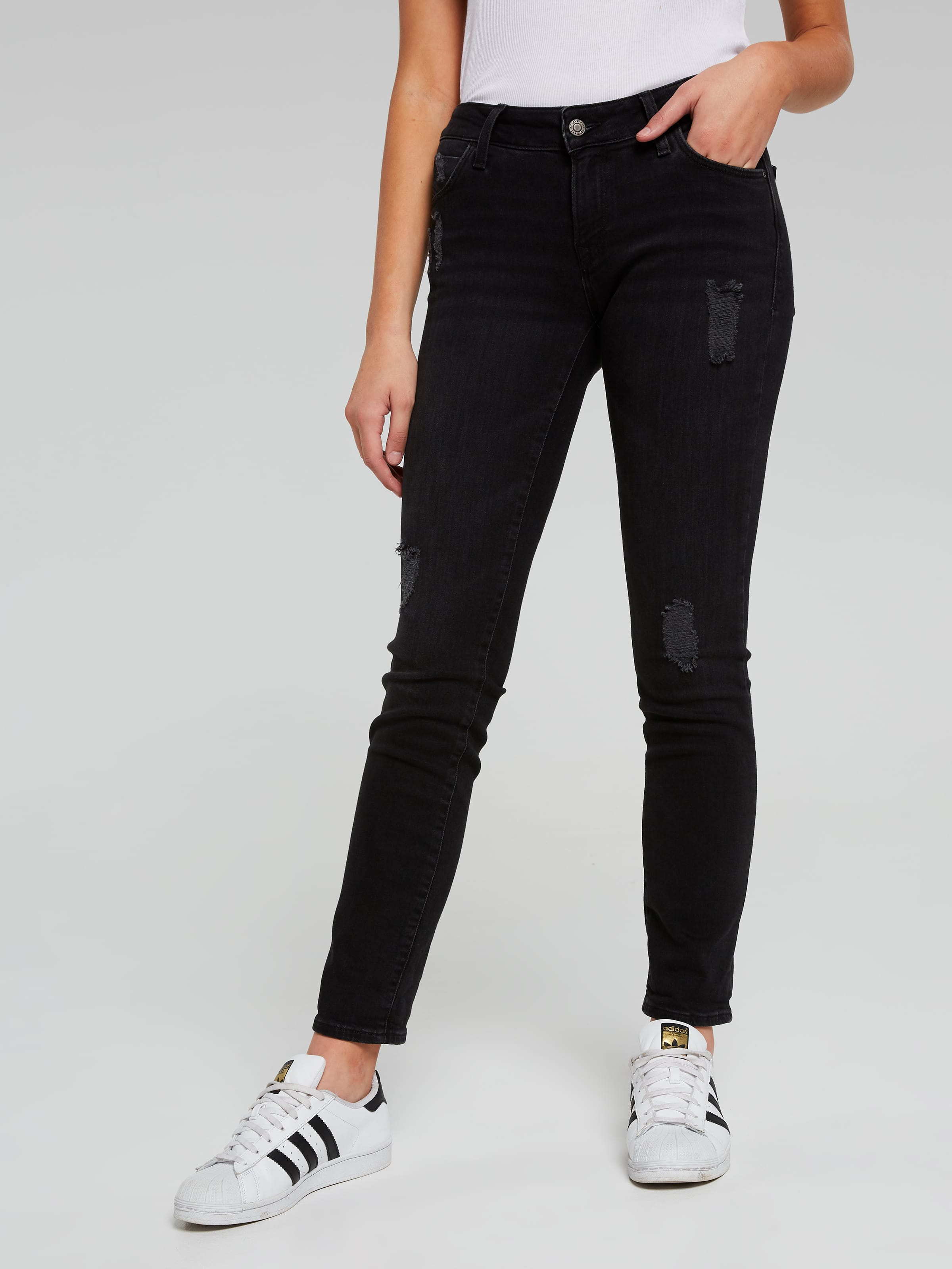 Image for Mavi Emma Boyfriend Jean In Washed Black from Just Jeans ...
