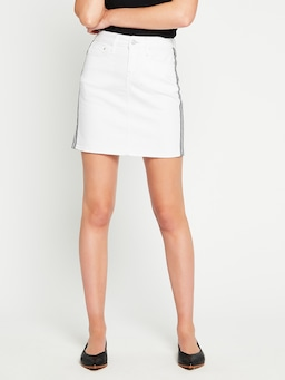 Mavi Alice Skirt White Stripe