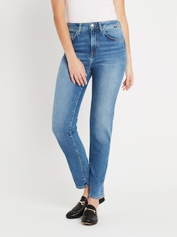 Mavi Lea High Rise Boyfriend Jean In Indigo 90'S Stretch