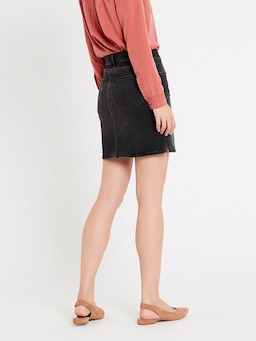 Mavi Frida Mid Skirt In Dark Grey