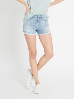 Mavi Clare High Rise Crop Short Rip Vintage