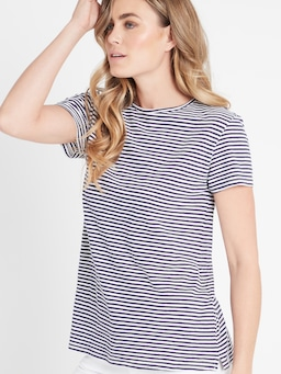 Mavi India Tee In Blue/White Stripe