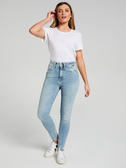 Mavi Scarlett High Rise Skinny In Light Random 90'S Stretch