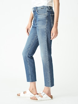 Mavi Viola High Rise Straight In Dark Vintage Denim
