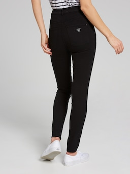 Guess Super High Rise Jean In Black Overdye